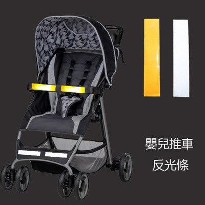 New stroller accessories Night reflective car stickers baby carrinho organizer umbrella kinderwagen Safety  Remind front Note