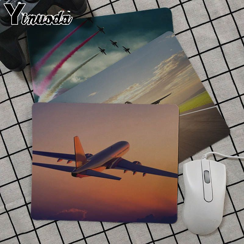 Yinuoda My Favorite Airplane fly travel cloud Unique Desktop Pad Game Mousepad Size for  ...