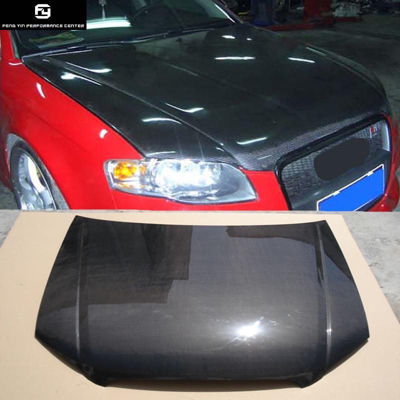 A4 B7 Carbon fiber Car engine hood cover vents for Audi A4 B7 front bumper 2006