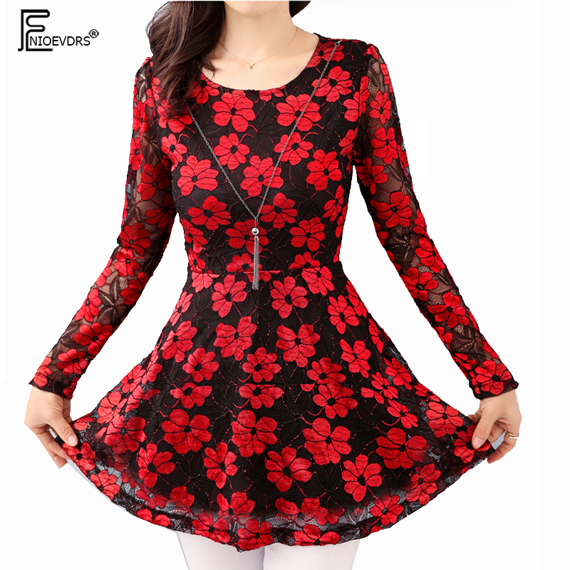 Women's Clothing Creative Hot Fashion Women Floral Blouse O-neck Tops Flower Embroidered Chiffon Blouse Crochet Lace Two-piece Butterfly Sleeves Blouse