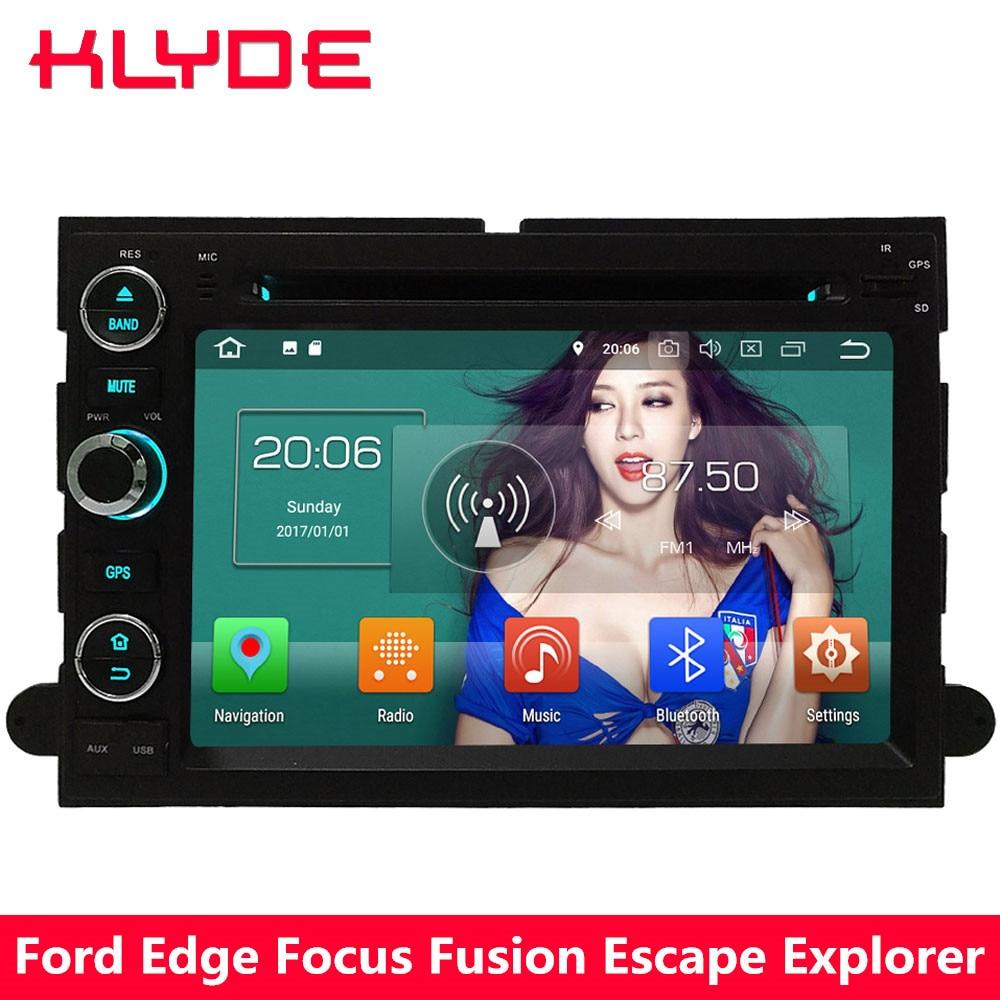 KLYDE 4 г WI-FI Восьмиядерный PX5 Android 8,0 4 ГБ Оперативная память 32 ГБ Встроенная память DVD мультимедиа плеер для ford Focus края Taurus Fusion Escape F150