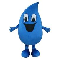 Hot sale adult blue Water drop Mascot costumes Fancy dress Cartoon Costumes Free shipping