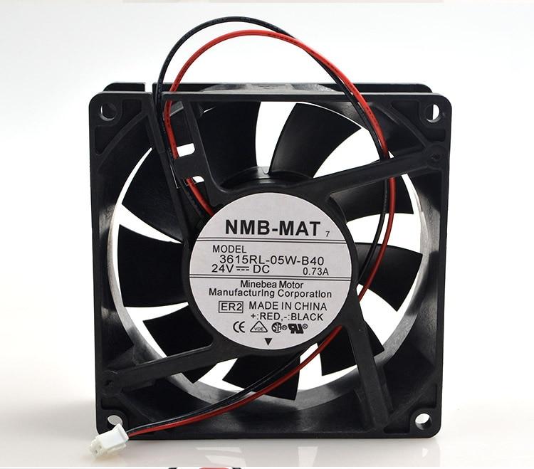 Original NMB 3615RL-05W-B40 9038 9CM 24V 0.73A waterproof inverter cooling fan