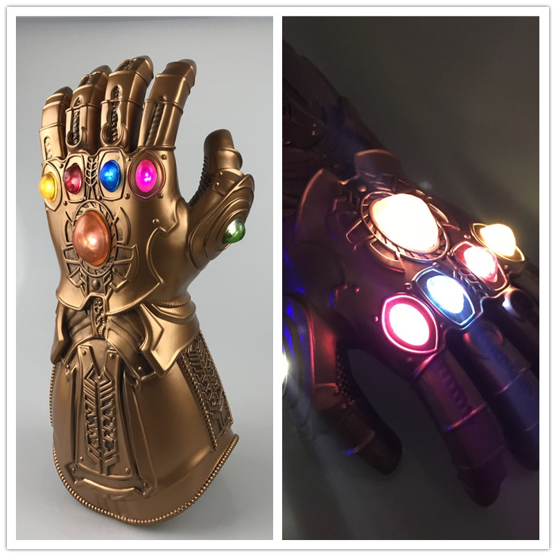 Avengers 3 Infinity War Thanos Infinity Gauntlet Cosplay Gloves Left Hand Figure