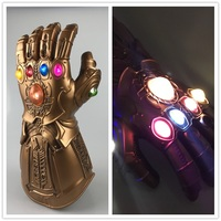 1:1 Avengers 3 Infinity War Thanos LED Light Cosplay Gloves Armor PVC Hand Gauntlet Led Luminous Glove Halloween Cosplay Props