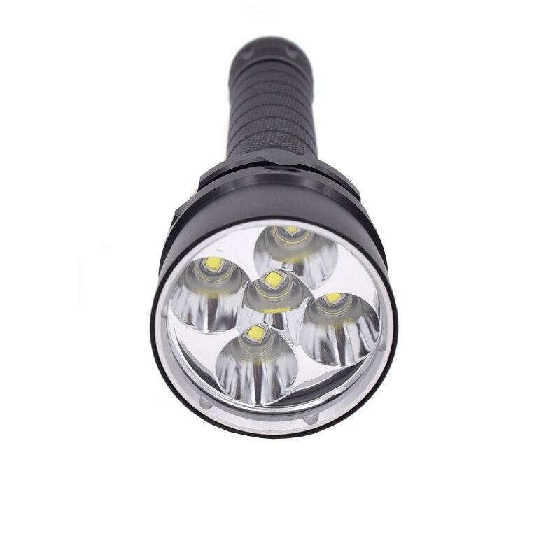 30 W 10000Lm Plongée Sous-Marine 100 m Lampe De Poche 5x XM-L2 lampe de poche LED L2 LED Plongée Torche Imperméable Lumineux Superbe de linternas
