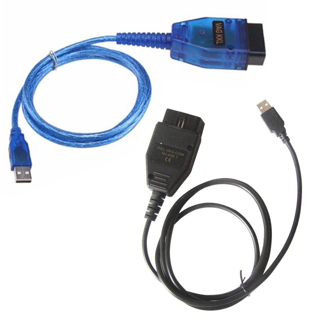 Dewtreetali Usb-schnittstelle Diagnosekabel Adapter OBD2 Scan Tool Scanner mit CD für Audi VW SEAT SKODA für VAG 409,1 KKL