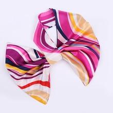 Fashion Women cravat Girl small neckerchief striped Printing Hotel Waiter Flight Attendants Business Imitate Silk bow tie Gift