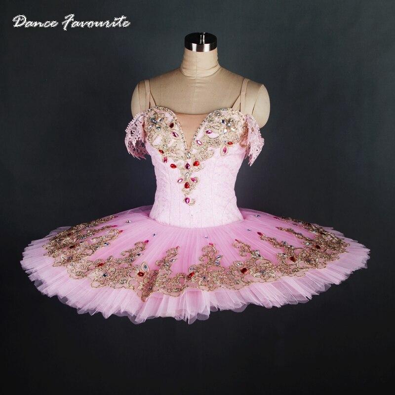 Tailor-made professional ballet tutu Girl & Women stage performance ballet costume ballerina dance tutu Pink lace tutu