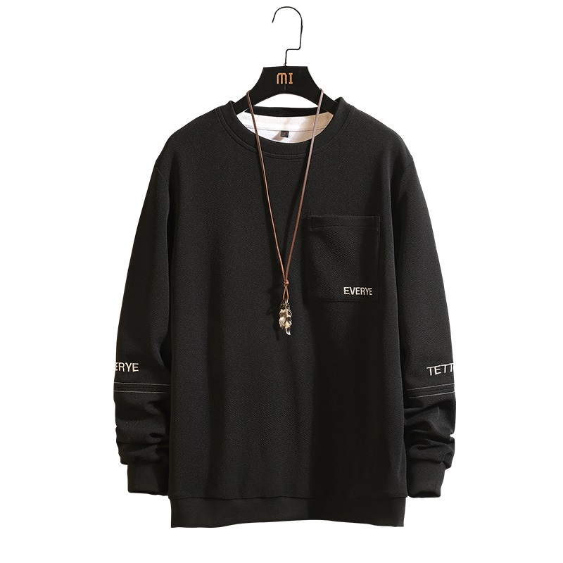 Men Letter Black  Khaki SweaterShirt Long Sleeves Hoodies Hip Hop Casual Stitching Pullovers Streetwear Size M-4XL;YA115