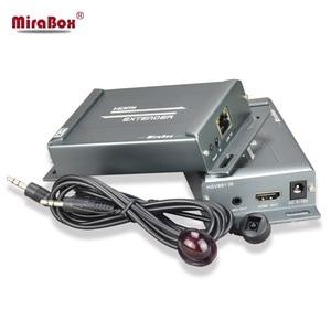 Удлинитель MiraBox HDMI с ИК-пультом управления через ethernet TCP IP на 150 м RJ45 Cat5 Cat5e Cat6 HDMI сплиттер IR Passback Extender