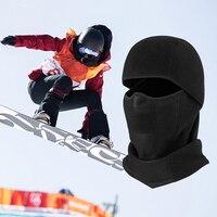 Kominiarka wiatroszczelna maska narciarska wiatroszczelna zima Thermal Fleece jazda na rowerze maska kominiarka oddychająca jazda na rowerze narciarstwo piesze wycieczki kaptur w Maska kolarska na twarz od Sport i rozrywka na