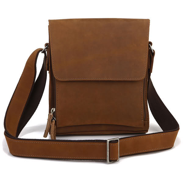 100% Real Genuine Leather bag Crazy Horse Leather Men Messenger Bags Cowhide Casual Men