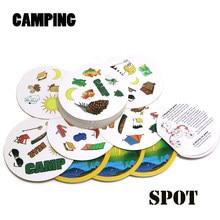Cadeau de camping version anglaise pour enfants, carte de fête à domicile, jeu de voyage