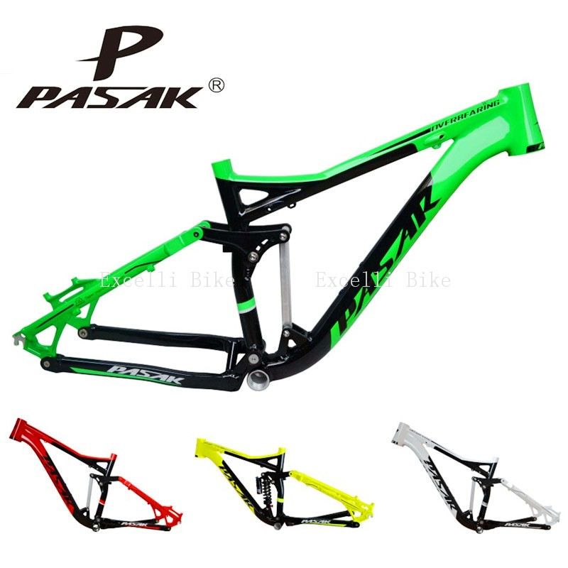2-7005 Aluminum Alloy Cycling Frame Soft-tail Frame Full Suspension Downhill Mountain Bike26 27.5 Frame For Disc Oil Brake for 21 speeds28
