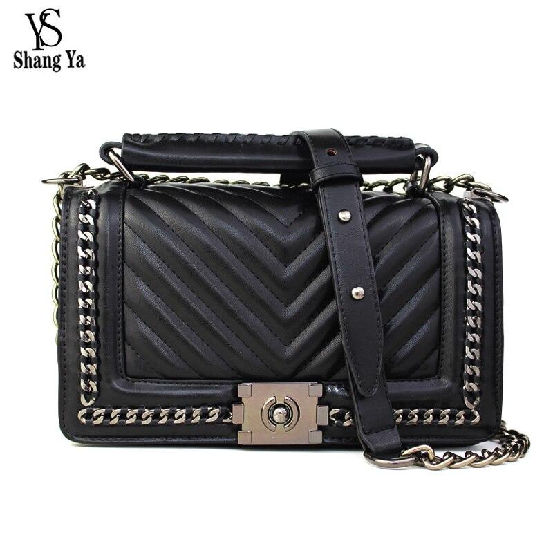 ФОТО New Famous Designer Brand Chain Bags Women Leather Handbag High Quality Crossbody Bag For Women Messenger Bag Sac A Main Bolsos