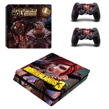 New Borderlands 3 PS4 Slim Skin Sticker For Sony PlayStation 4 Console and 2 Controller PS4 Slim Skins Stickers Decal Vinyl