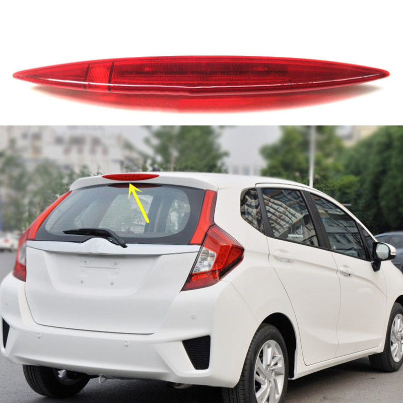 For Honda Fit/Jazz 2014-2016 Rear Windshield High Mount Warning 3rd Third Brake Light car rear trunk security shield cargo cover for honda fit jazz 2014 2015 2016 2017 high qualit black beige auto accessories