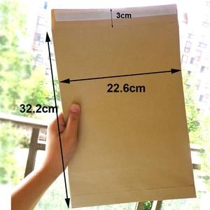 Image 2 - 30pcs Kraft Envelopes Self Adhesive Blank Envelope Big Size Stationery Gift Card Photo Letter Storage Office School Supplies