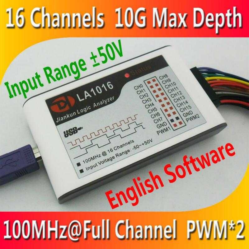 Kingst LA1016 USB Logic Analyzer 100M max sample rate,16Channels,10B samples, 2 PWM out logic16 logic analyzer 100m arm fpga decoder tool r