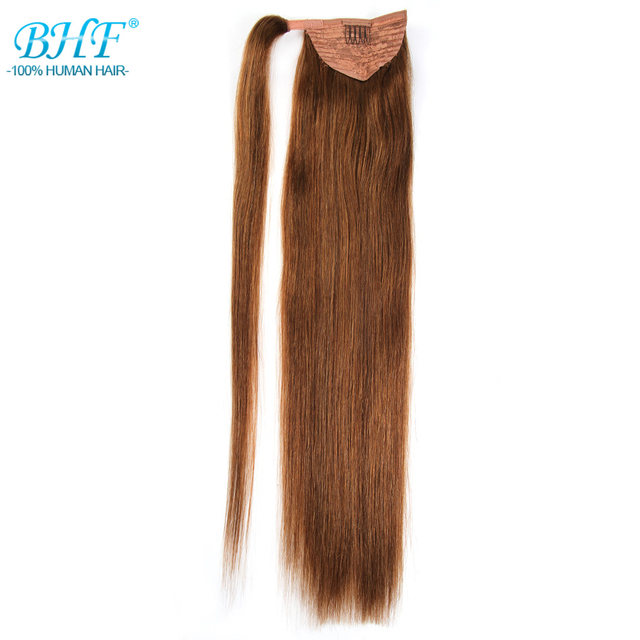 Online Shop Bhf Straight Ponytail Human Hair All Colors European