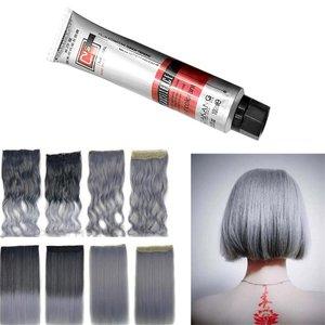 100ml Fashion Hair Cream Unisex Smoky Gray Punk Style Light Grey Silver Permanent Hair Dye Color Cream Girls Beauty Hair Colors
