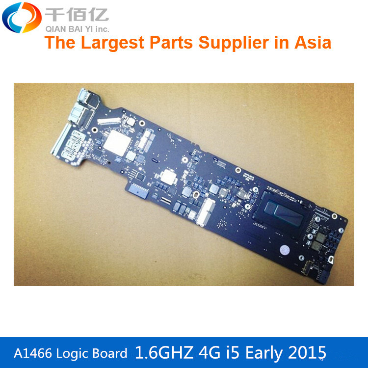 New laptop Logic board A1466 motherboard 1.6GHZ 4G I5 820 00165 02 for Macbook Air 13' Early 2015