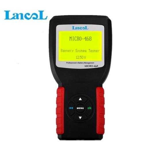 Lancol MICRO 468 Système de Batterie De Voiture Testeur Pour 12 v & 24 v Système multi-langue Outil De Diagnostic Pour SOH SOC CCA IR Livraison Gratuite
