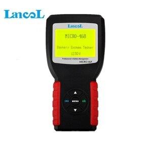 Image 4 - Lancol micro 468 multi idioma ferramenta de diagnóstico sistema de bateria de carro testador para 12v sistema para soh soc cca ir teste frete grátis