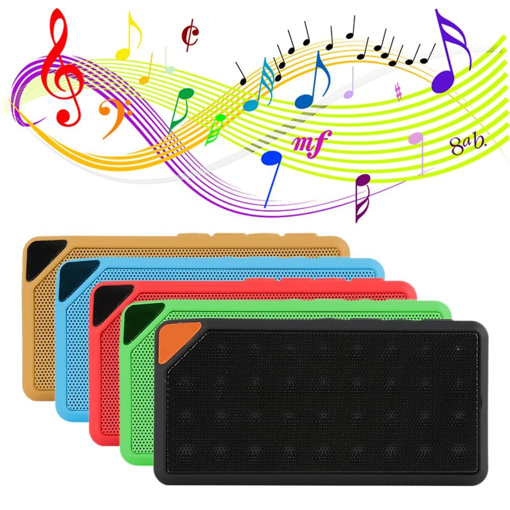 Fashion Multi-Color X3 Mini Wireless Bluetooth Speaker Built-in Microphone Support USB/AUX/FM Radio/TF Card