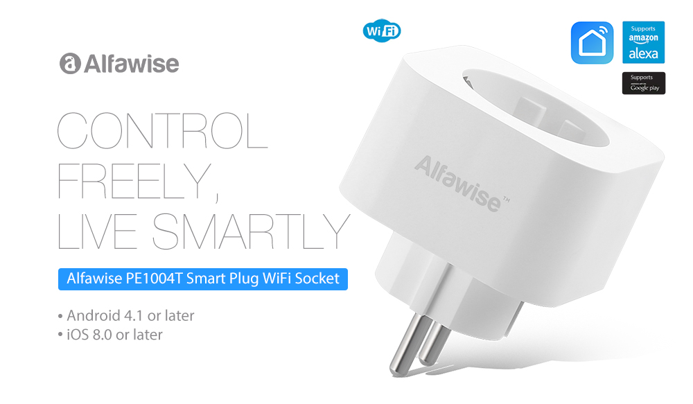 Enchufe Inteligente WiFi Alfawise PE1004T