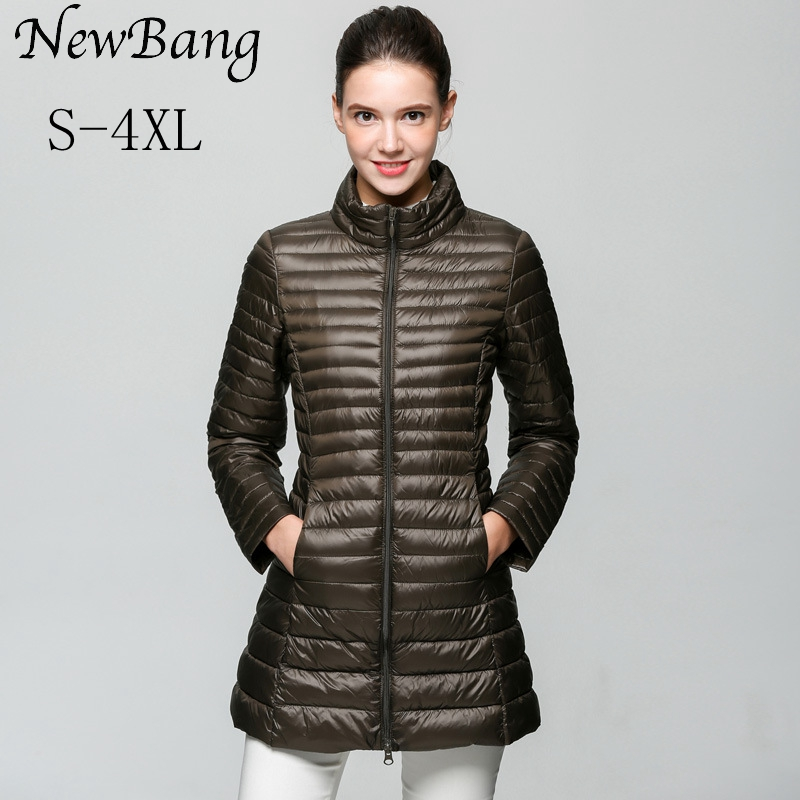 NewBang Brand Ultra Light   Down   Jacket Women Long Winter   Down   Jacket Women Slim Portable Windproof Warm   Coat