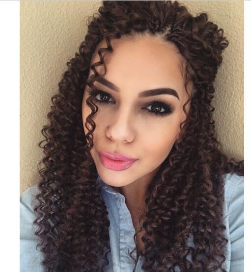 Brazilian Curly Crochet Hair Freetress Braid Pre Loop Crochet Braid