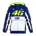 Envío gratis 2016 valentino rossi vr46 m1 equipo moto gp fit para yamaha factory racing adulto sudadera con capucha deportes sudaderas chaquetas
