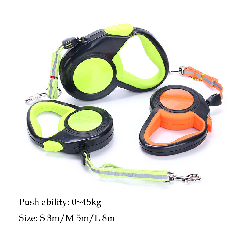 A Roulette For Retractable Dogs Leashes 3M 5M 8M Reflective Cats Collar Puppy Nylon Traction Small
