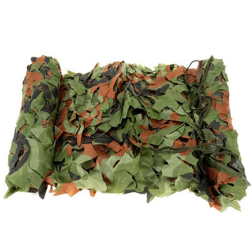 2m * 3m camouflage screen, personal tactical camouflage net, outdoor camping simple awning. Hunting camouflage network.