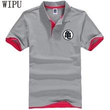 Dragon ball Polo shirt Casual camiseta masculina Turtle words printed Short-Sleeve loose polo High quality Cotton polos homem