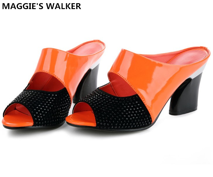 Maggie's Walker Beach Shoes Naiste ehtne nahast sandaalid Summer Fashion Wedges Slides Suurus 35 ~ 40