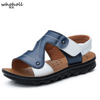 Whoholl Brand 2019 Summer Kids Shoes Brand Closed Toe Toddler Boys Sandals Orthopedic Sport Pu Leather Baby Boys Sandals Shoes