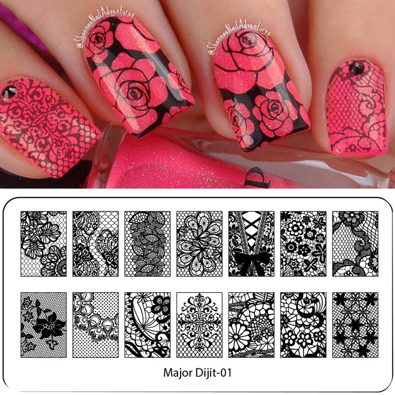 Exelent Nail Stencil Stamp Crest - Nail Art Ideas - morihati.com