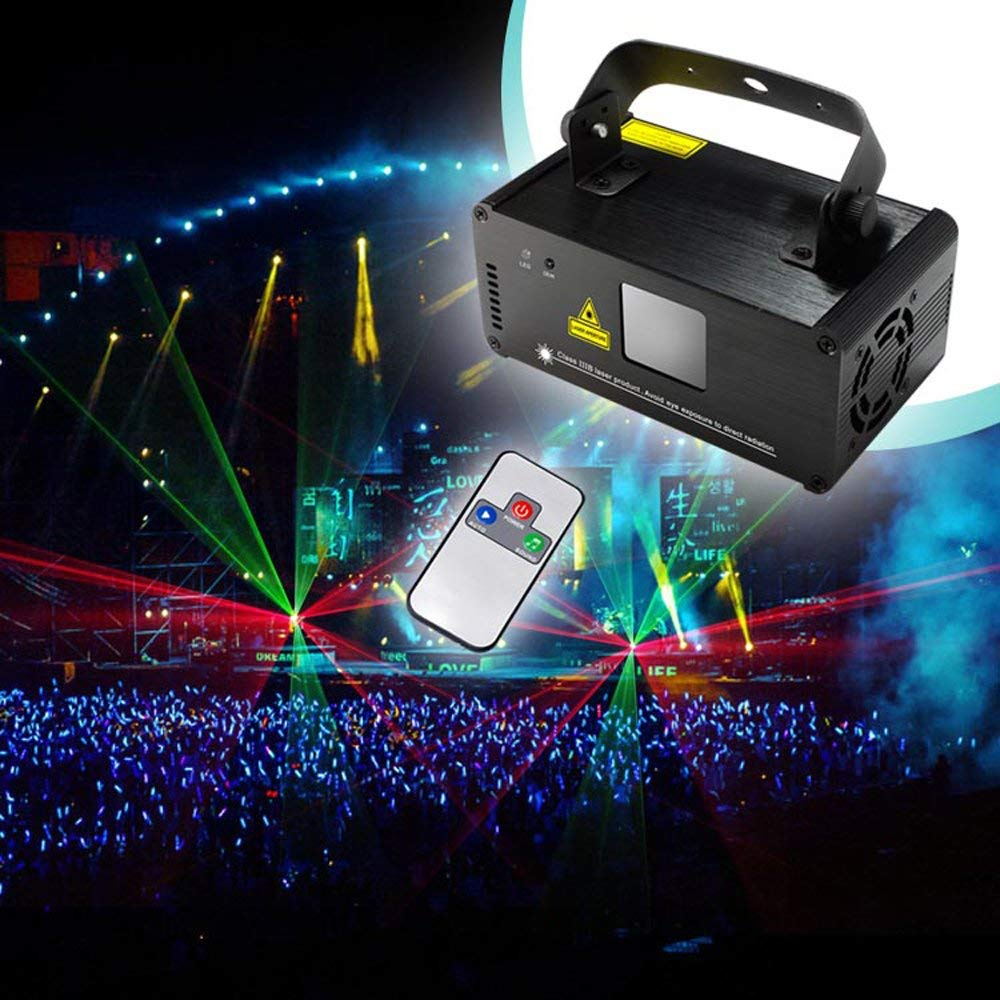 RGY Laser Scanner DJ Disco Beam Stage Lighting Effect Laser Projector illumination Show Light Sound Activated with Remote remote dmx512 150mw blue laser effect scanner dj disco beam stage lighting effect blue laser projector illumination show light