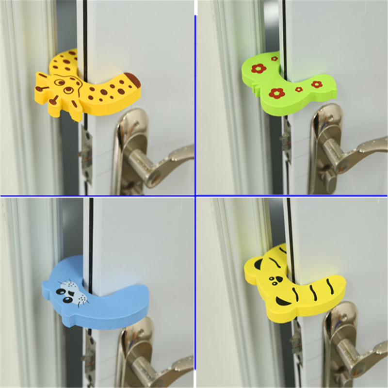 Homdox 4 Pcs Pack Baby Safety Animal Door Stop Finger Pinch Guard N30a Furniture