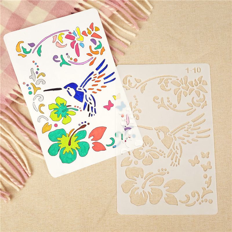 27.5*19cm A4 Bird Flower DIY Craft Layering Stencils Painting Scrapbooking Stamping Embossing Album Deco Paper Template