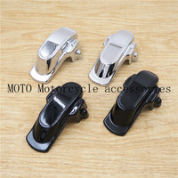 Motorcycle Black Chrome Rear Frame Axle Covers Plastic For Harley Dyna FXDL Dyna Low Rider 07