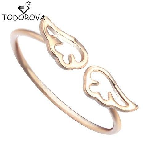 Тоторова маленькие крылья ангела кольца для женщин модные ювелирные