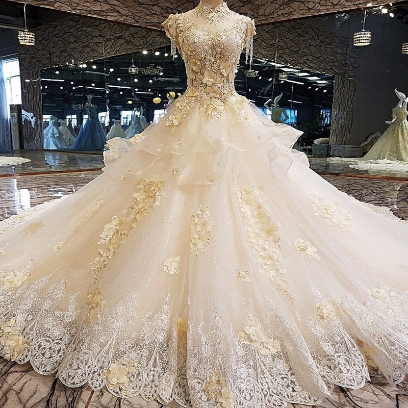 Luxurious Amazing Wedding Dresses 2018 Crystal Diamond Bling With Back Up Luxury Wedding Gowns Hot Sale Wedding Dress Amazing Wedding Dresseswedding Dress Bling Bling Aliexpress