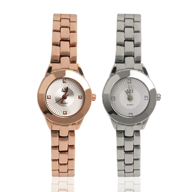 79dc5366ad3 Asj liga moda pulseira de pulso de quartzo senhora relógios de relógios de  luxo mulheres vestido