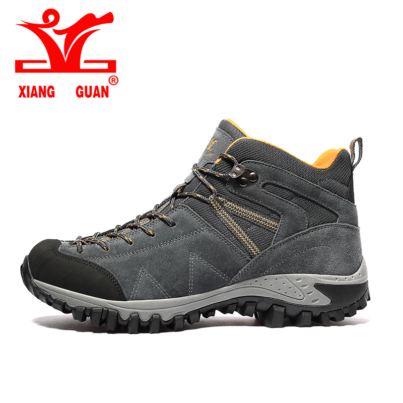 2017 XIANGGUAN Hiking Boots high for Man Breathable Mountain Climbing Outdoor Shoes high quality Combat boots sneakers 96978 yin qi shi man winter outdoor shoes hiking camping trip high top hiking boots cow leather durable female plush warm outdoor boot