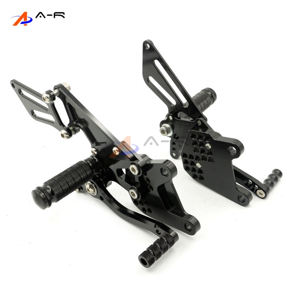 Black Motorcycle CNC Adjustable Rearsets Footrest Foot Pegs Rear Sets for Kawasaki ZX-10R 06-10 ZX10R 2006-2010 2009 2008 2007 free shipping motorcycle parts silver cnc rearsets foot pegs rear set for yamaha yzf r6 2006 2010 2007 2008 motorcycle foot pegs