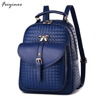 2016 New Fashion Ladies Backpack Shoulder Backpack Bag Dual Purpose Korean Fashionista PU Leather Bag Of